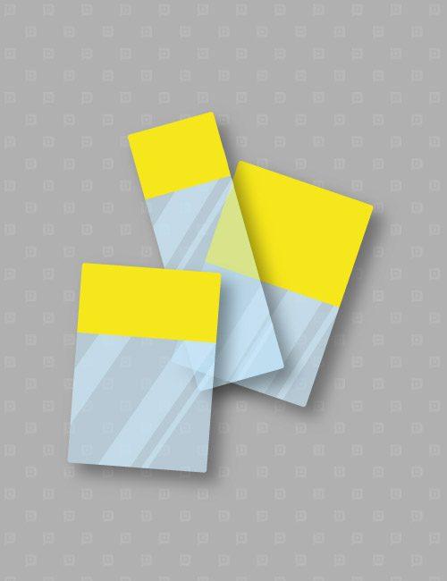 Etichette marcafilo autolaminanti per stampanti laser per cavi gialle