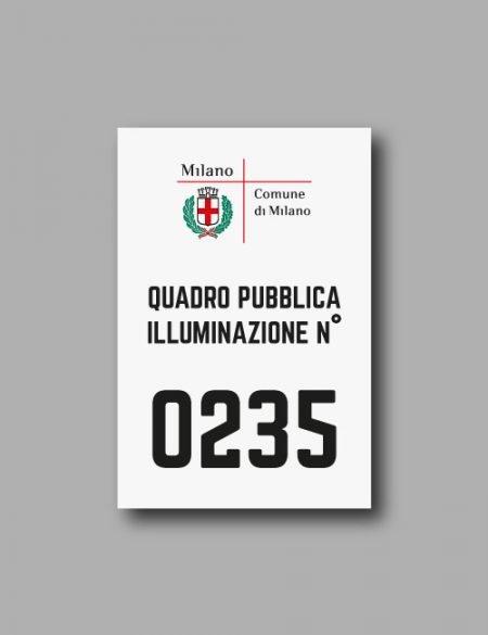 Etichetta di identificazione per i quadri di pubblica illuminazione