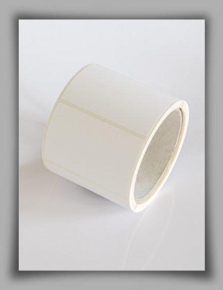 Etichette in poliestere bianco lucido per stampanti a trasferimento termico