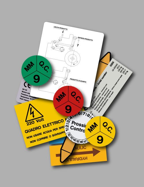 Etichette adesive personalizzate di lunga durata