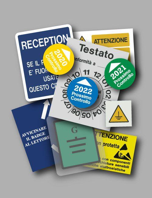Etichette in pellicola adesiva personalizzate di media durata