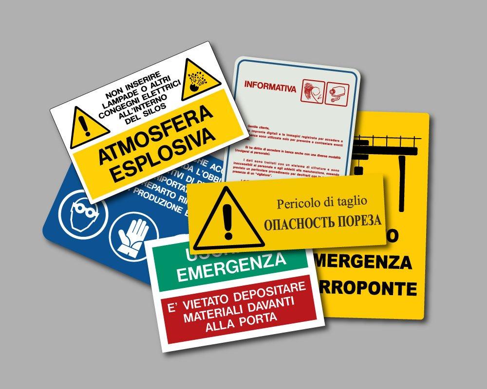 Cartelli di sicurezza personalizzati in alluminio. segnaletica custom