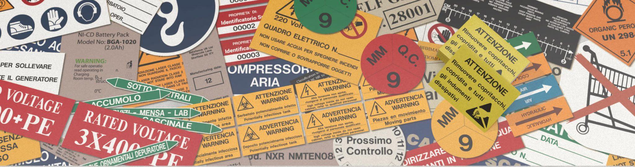 Etichette personalizzate in pellicola adesiva