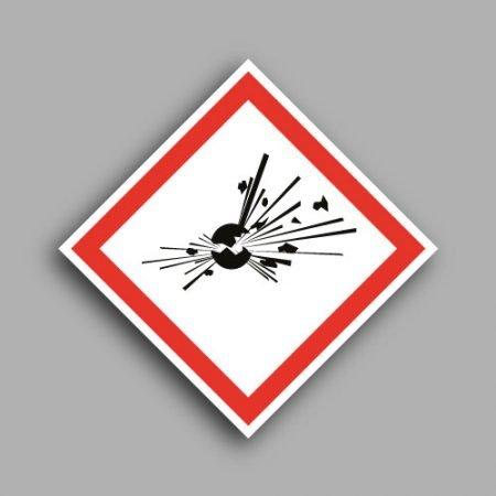 Pittogramma con simbolo GHS01 materiali esplosivi