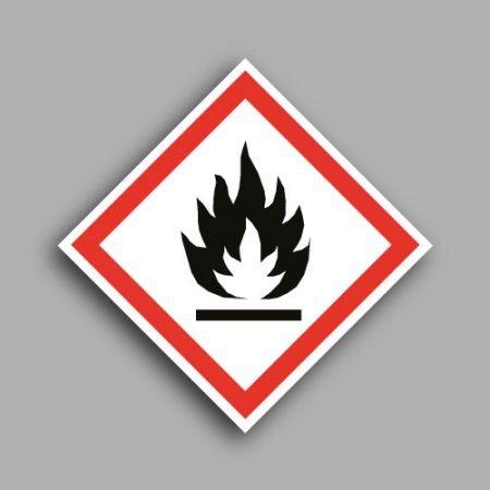 Pittogramma con simbolo GHS2 | Materiali infiammabili