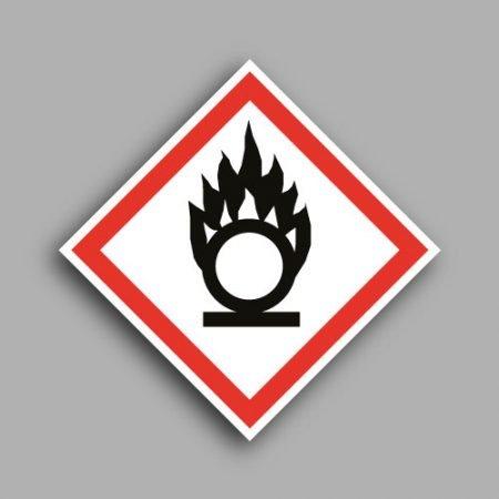 Pittogramma con simbolo GHS3 | Materiali comburenti