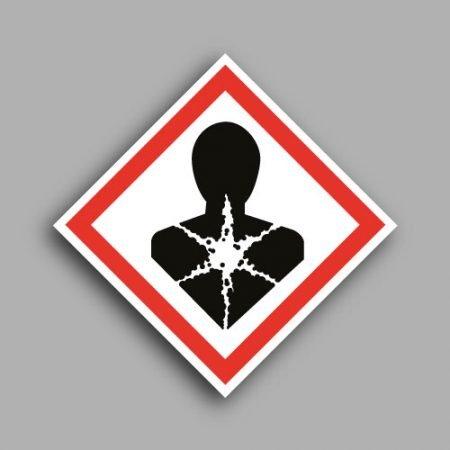 Pittogramma con simbolo GHS08 | Rischio mutageno, respiratorio, cancerogeno e per la riproduzione