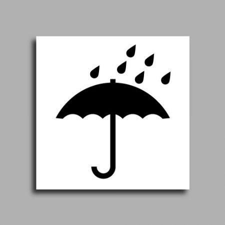 Etichette di spedizione | Immagine prestampata ombrello | Proteggere il pacco dall'acqua
