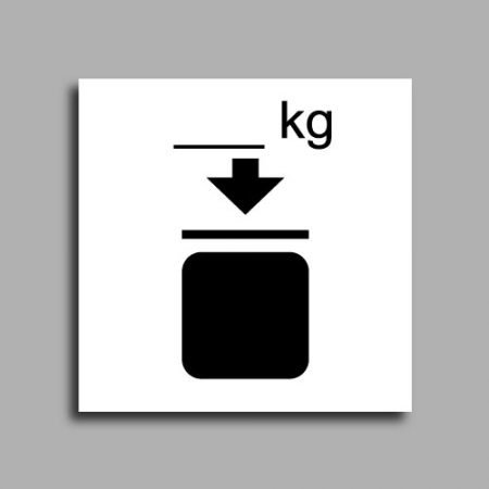 Etichetta per spedizioni che indica il limite di sovrapposizione in peso