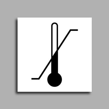 Etichetta per spedizioni per segnalare il limite di temperatura oltre al quale il contenuto potrebbe subire danni