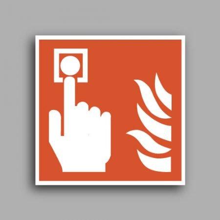 Pittogrammi | Simbolo ISO 7010 F005 | Pulsante allarme antincendio