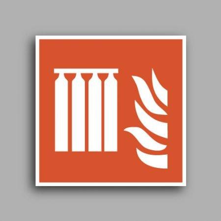 Simbolo ISO 7010 F008 | Batteria fissa estintori antincendio