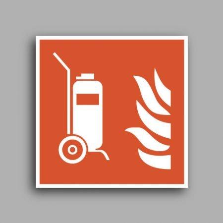Simbolo ISO 7010 F009 | Estintore antincendio carrellato
