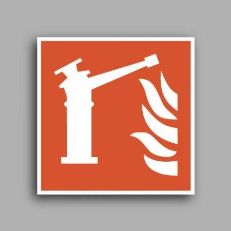 Simbolo ISO 7010 F015 | Spingarda antincendio