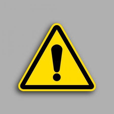 Etichetta con simbolo ISO 7010 W001 pericolo generico