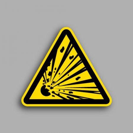 Etichetta con simbolo ISO 7010 W002 | Pericolo esplosione