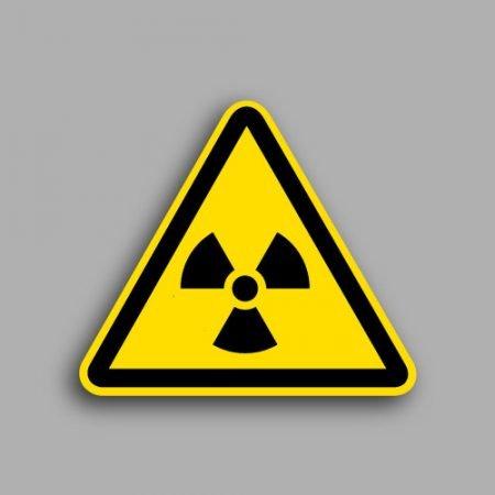 Etichetta con simbolo ISO 7010 W003 | Pericolo materiale radioattivo o radiazioni ionizzanti