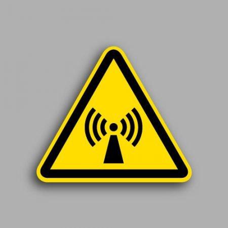 Etichetta con simbolo ISO 7010 W005 | Pericolo radiazioni non ionizzanti
