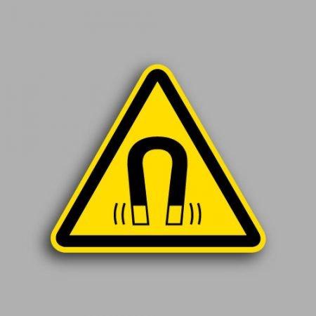 Etichetta con simbolo ISO 7010 W006 | Pericolo campo magnetico