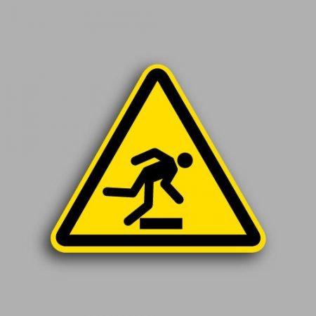Etichetta con simbolo ISO 7010 W007 | Pericolo ostacolo in basso