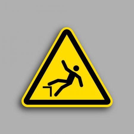 Etichetta con simbolo ISO 7010 W008 | Pericolo di caduta con dislivello