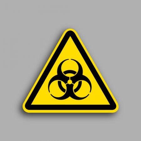 Etichetta con simbolo ISO 7010 W009 | Pericolo rischio biologico