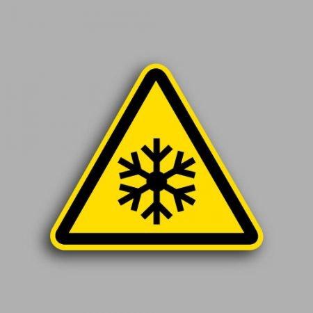 Etichetta con simbolo ISO 7010 W010 | Pericolo bassa temperatura condizioni di congelamento