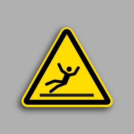 Etichetta con simbolo ISO 7010 W011 | Pericolo superficie pericolosa
