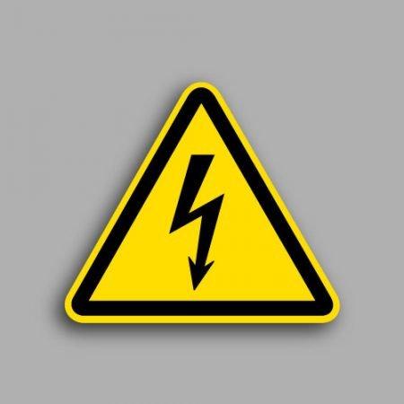 Etichetta con simbolo ISO 7010 W012 | Pericolo elettricità
