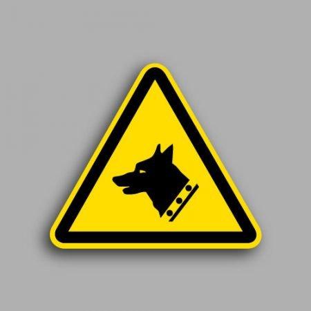 Etichetta con simbolo ISO 7010 W013 | Pericolo cane da guardia