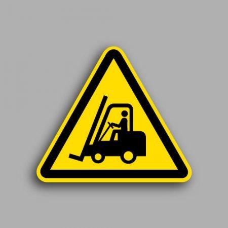 Etichetta con simbolo ISO 7010 W014 | Pericolo carrelli elevatori ed altri veicoli industriali