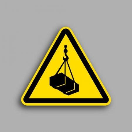 Etichetta con simbolo ISO 7010 W015 | Pericolo carichi sospesi