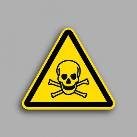 Etichetta con simbolo ISO 7010 W016 | Pericolo sostanze tossiche