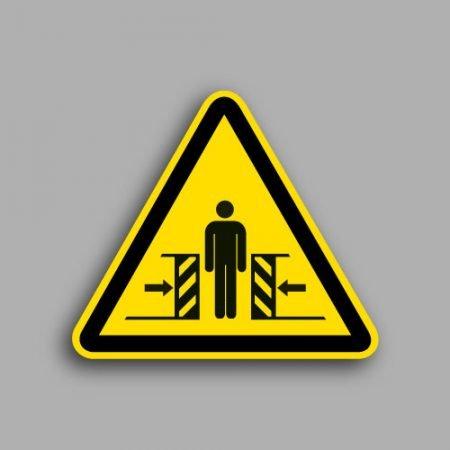 Etichetta con simbolo ISO 7010 W019 | Pericolo schiacciamento