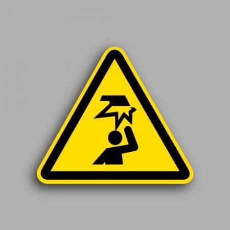 Etichetta con simbolo ISO 7010 W020 | Pericolo ostacolo in alto