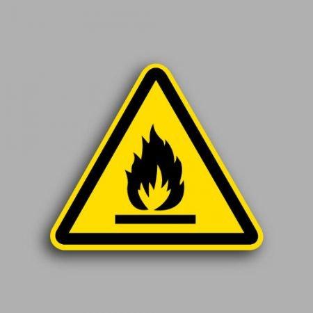 Etichetta con simbolo ISO 7010 W021 | Pericolo materiale infiammabile