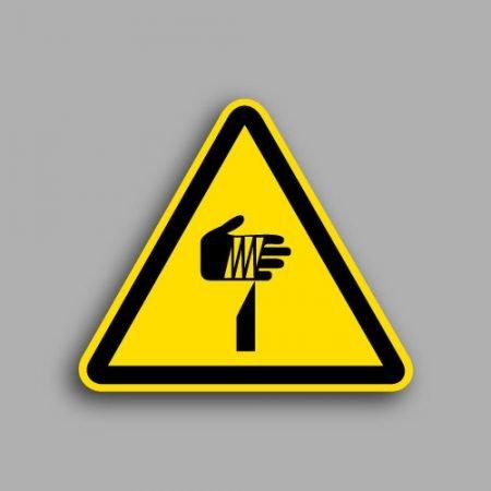 Etichetta con simbolo ISO 7010 W022 | Pericolo oggetto affilato