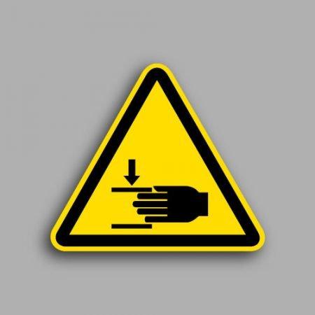 Etichetta con simbolo ISO 7010 W024 | Pericolo schiacciamento mani