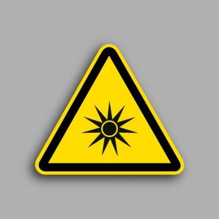 Etichetta con simbolo ISO 7010 W026 | Pericolo radiazioni ottiche