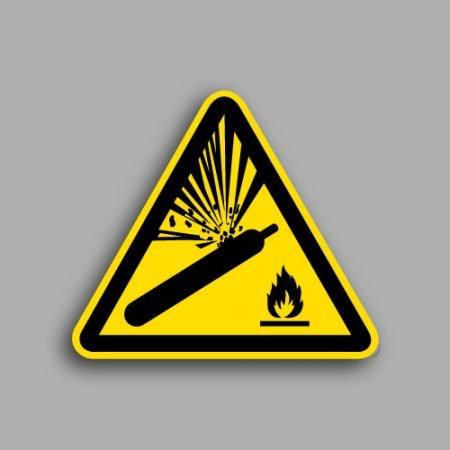 Pittogramma ISO W029 pericolo bombola pressurizzata