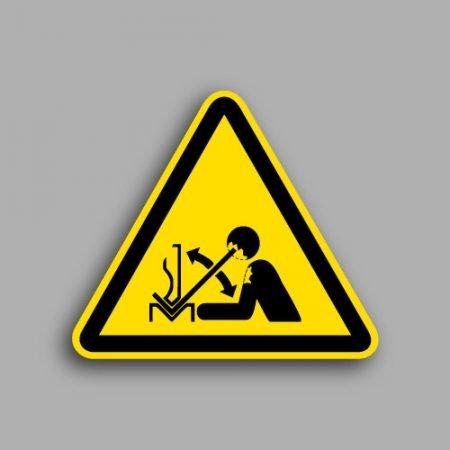 Etichetta con simbolo ISO 7010 W032 | Pericolo rapido movimento del pezzo in pressa piegatrice