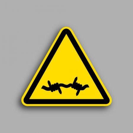 Etichetta con simbolo ISO 7010 W033 | Pericolo filo spinato