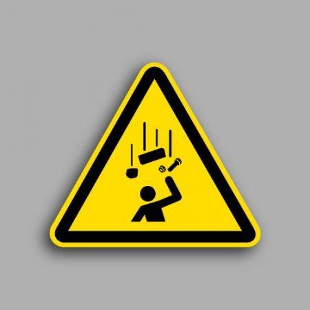 Etichetta con simbolo ISO 7010 W035 | Pericolo caduta oggetti