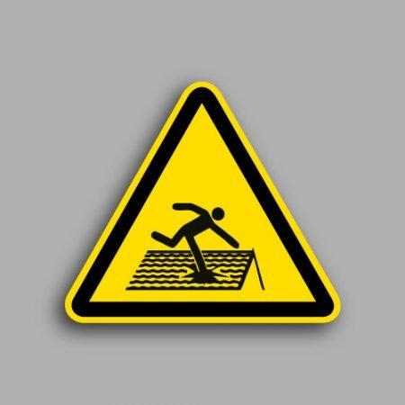 Etichetta con simbolo ISO 7010 W036 | Pericolo tetto fragile