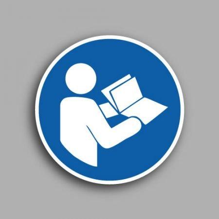 Etichetta con simbolo ISO 7010 M002 | Obbligatorio leggere le istruzioni