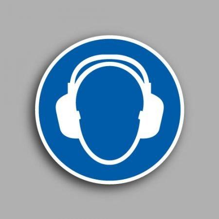 Pittogramma con simbolo ISO 7010 M003 | Obbligatorio indossare le protezioni acustiche