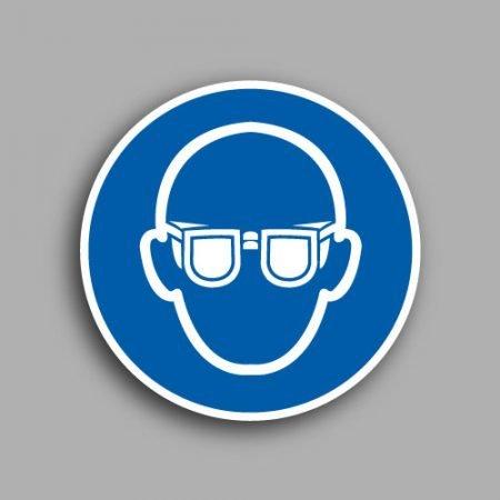 Etichetta con simbolo ISO 7010 M004 | Obbligatorio indossare le protezioni agli occhi
