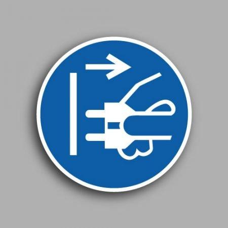 Etichetta con simbolo ISO 7010 M006 | Obbligatorio staccare la corrente