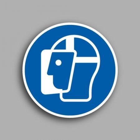 Pittogrammi | Simbolo ISO 7010 M013 | Obbligatorio indossare lo schermo protettivo