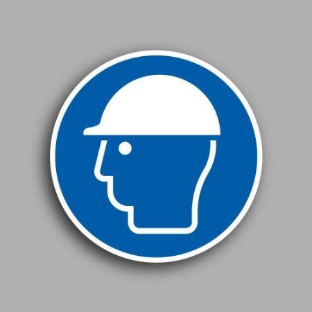 Etichetta con simbolo ISO 7010 M014 | Obbligatorio indossare il casco di protezione